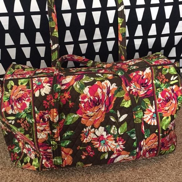 e8bac14860 Vera Bradley Large Duffel Bag English Rose EUC. M 5ae353473b1608f233f11e8d